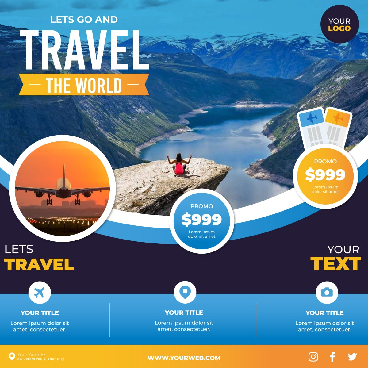 Tour and Travel Services Creatives Sample